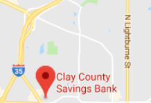 clay county savings bank Liberty map