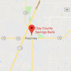 clay county savings bank kearney mo map