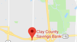 clay county savings bank North Brighton map